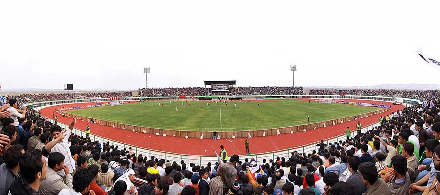 Inside Yadegar Emam Stadium on a matchday