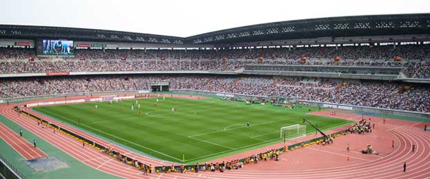 Yokohama international stadium on matchday
