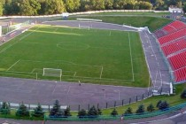 Lofted view of Yunost Stadium's facilities
