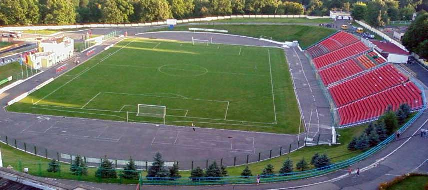 Lofted view of Yunost Stadium's facilities