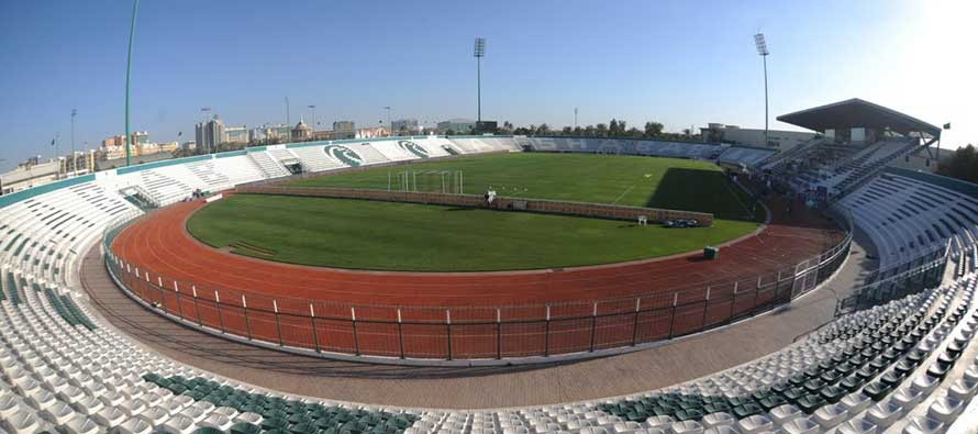 Overlooking the Zabeel Stadium pitch