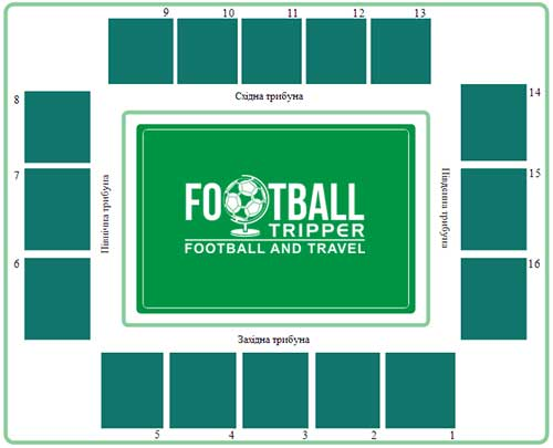 Zorya Luhansk's stadium seating chart