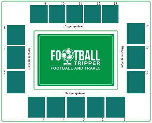 Zorya Luhansk's stadium seating chart