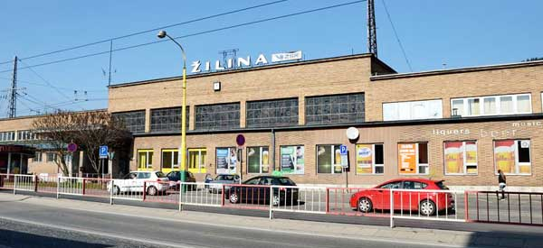 Exterior of Zilina railway station