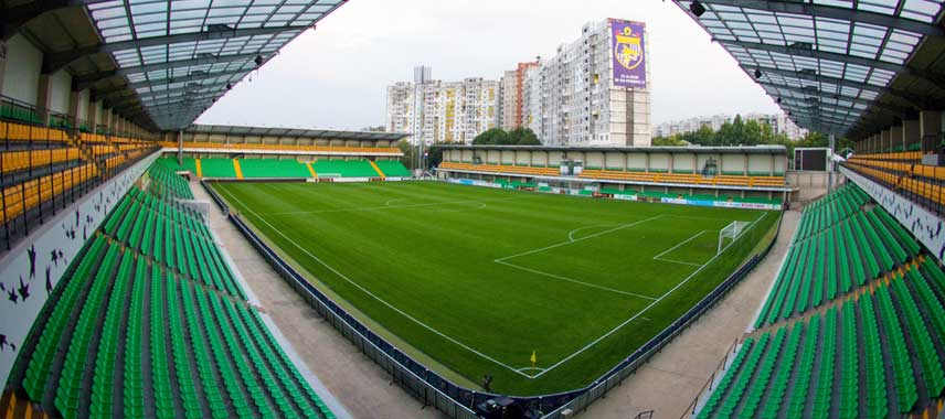 Inside view of Zimbru Stadium