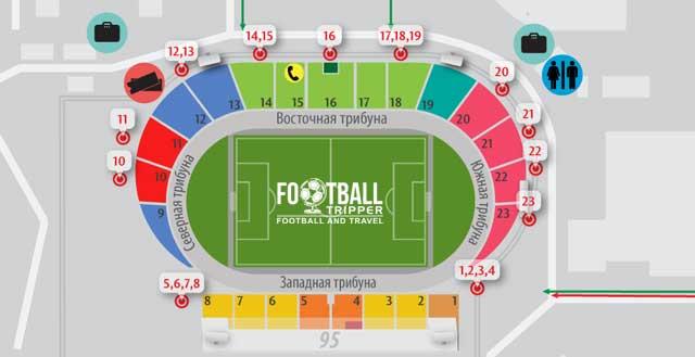 Zvezda Stadium seating plan